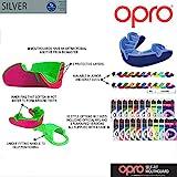 OPRO Mundschutz Silver Junior - Kinder Zahnschutz- für Handball, Rugby, Karate, Hockey, MMA, Boxen - selbst anformbar - mit Zahngarantie von bis zu 7.500 € - im UK entworfen & hergestellt (Weiß/Schwarz) - 2