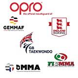OPRO Mundschutz Silver Junior - Kinder Zahnschutz- für Handball, Rugby, Karate, Hockey, MMA, Boxen - selbst anformbar - mit Zahngarantie von bis zu 7.500 € - im UK entworfen & hergestellt (Weiß/Schwarz) - 5